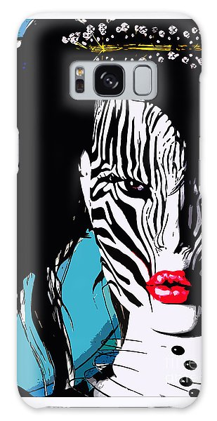 Zebra Girl Pop Art Galaxy Case