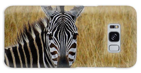 Exploramum Galaxy Case - Zebra Half Shot Face On by Exploramum Exploramum