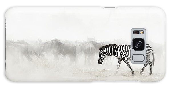 Zebra Galaxy S8 Case - Zebra In Dust Of Africa by Susan Schmitz