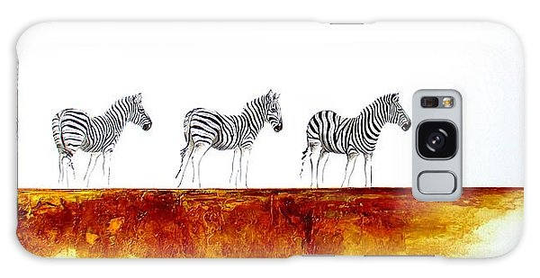 Zebra Landscape - Original Artwork Galaxy Case