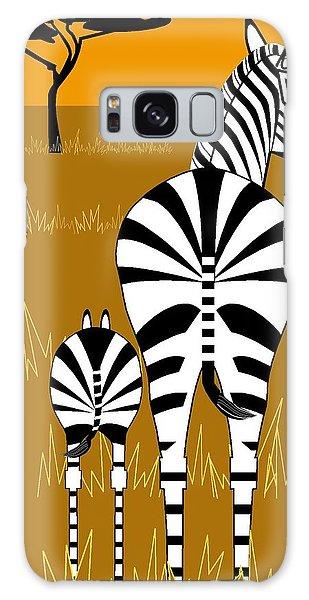 Zebra Mare With Baby Galaxy Case