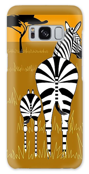 Zebra Mare With Baby Galaxy Case