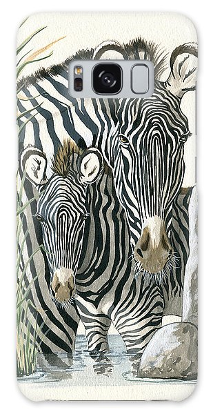 Zebra Mother And Colt Protect Our Children Painting Galaxy Case