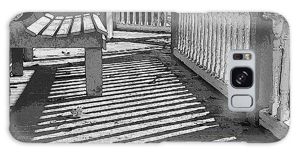 Zebra Porch Galaxy Case by Betsy Zimmerli