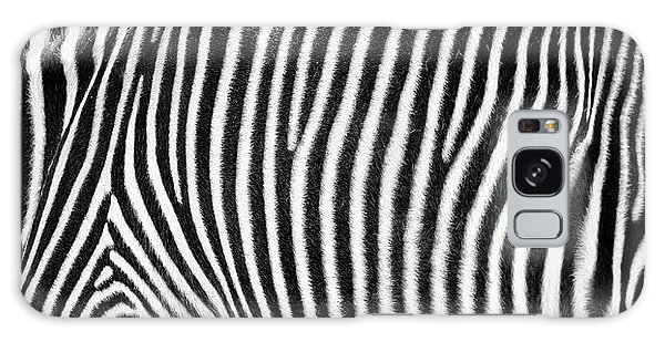 Zebra Print Black And White Horizontal Crop Galaxy Case