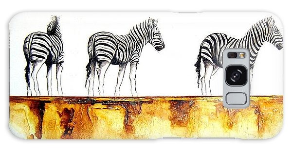 Zebra Trio - Original Artwork Galaxy Case
