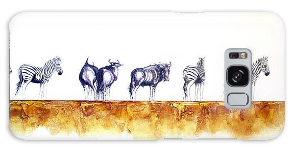 Zebras And Wildebeest 2 Galaxy Case