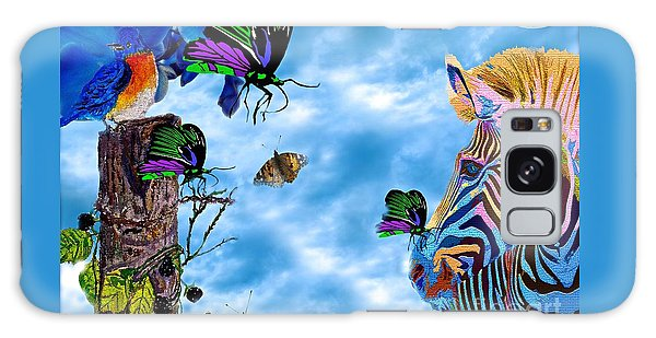 Zebras Birds And Butterflies Good Morning My Friends Galaxy Case