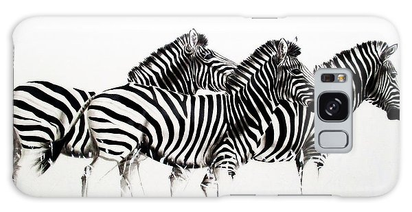 Zebras - Black And White Galaxy Case