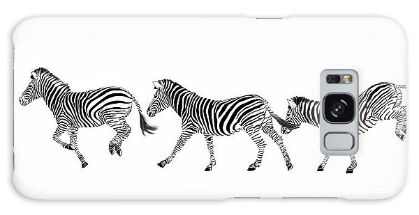 Zebras Dancing Galaxy Case