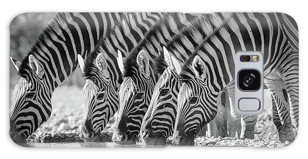 Zebra Galaxy S8 Case - Zebras Drinking by Inge Johnsson