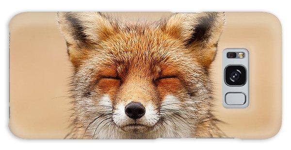 Fall Galaxy Case - Zen Fox Red Fox Portrait by Roeselien Raimond