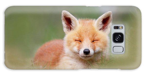 Hiding Galaxy Case - Zen Fox Series- Happy Baby Fox by Roeselien Raimond
