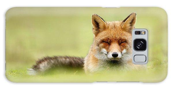 Zen Fox Series - Zen Fox In A Sea Of Green Galaxy Case