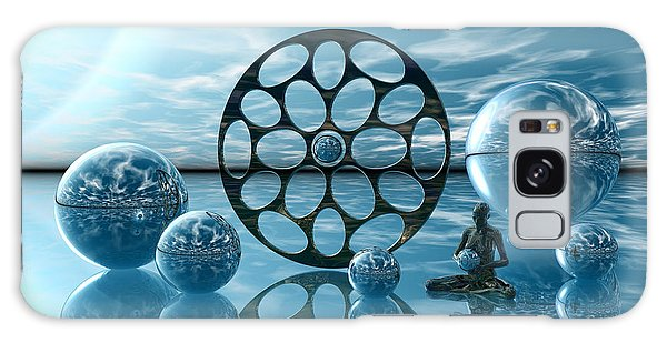 Galaxy Case featuring the digital art Zen Moment by Sandra Bauser Digital Art