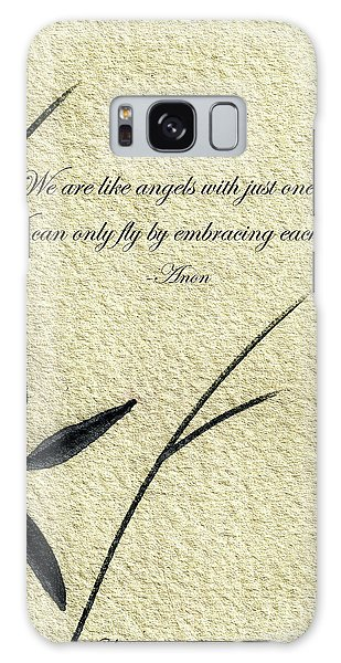 Zen Sumi 4d Antique Motivational Flower Ink On Watercolor Paper By Ricardos Galaxy Case