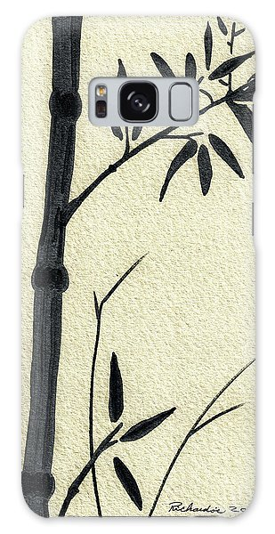 Zen Sumi Antique Bamboo 1a Black Ink On Fine Art Watercolor Paper By Ricardos Galaxy Case