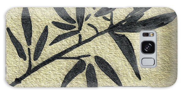 Zen Sumi Antique Botanical 4a Ink On Fine Art Watercolor Paper By Ricardos Galaxy Case