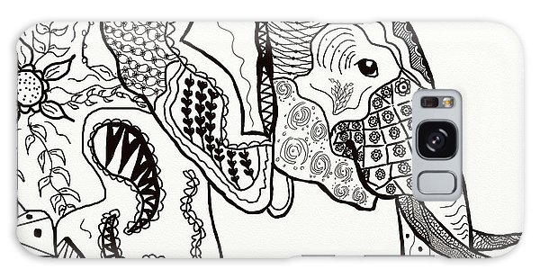 Zentangle Elephant Galaxy Case