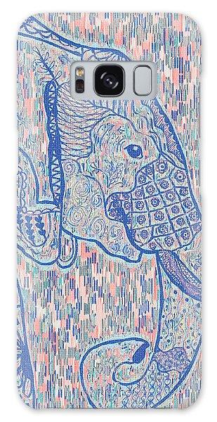 Zentangle Elephant-oil Galaxy Case