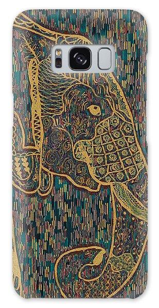 Zentangle Elephant-oil Gold Galaxy Case