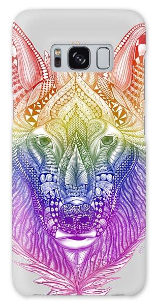 Zentangle Inspired Art- Rainbow Wolf Galaxy Case