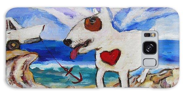 Zephyr Dog Goes To The Beach Galaxy Case