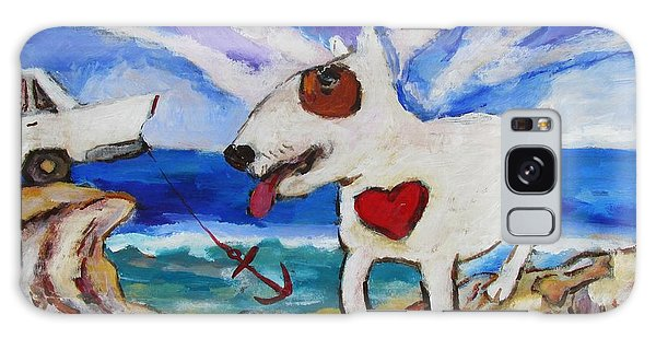 Zephyr Dog Goes To The Beach Galaxy Case by Dianne  Connolly