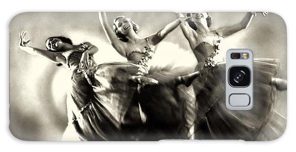 Ziegfeld Model  Dancers By Alfred Cheney Johnston Black And White Ballet Galaxy Case
