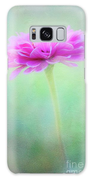 Painted Pink Zinnia Galaxy Case