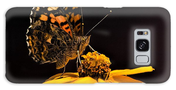 Zinnia Sipping Galaxy Case by Alana Thrower