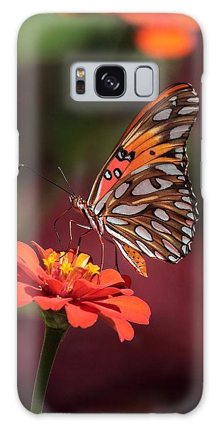 Zinnia With Butterfly 2668 Galaxy Case