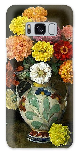 Zinnias In Decorative Italian Vase Galaxy Case