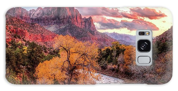 Zion Autumn Sunset Galaxy Case