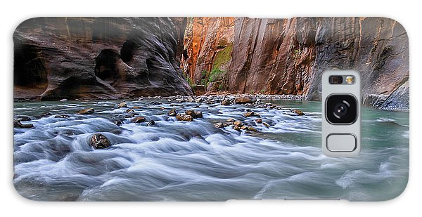 Galaxy Case featuring the photograph Zion Narrows by Wesley Aston