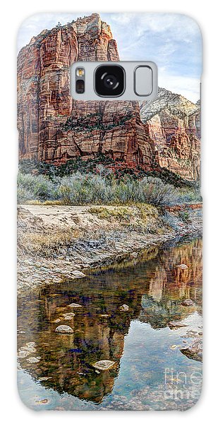 Zions National Park Angels Landing - Digital Painting Galaxy Case