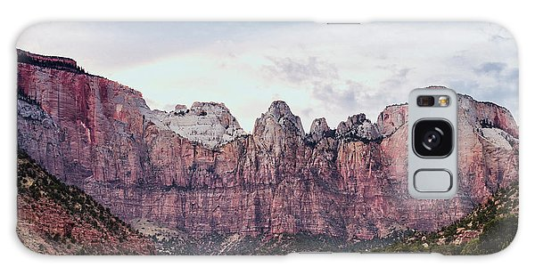 Desert View Tower Galaxy Case - Zion's Towers Of The Virgin by Stephanie McDowell