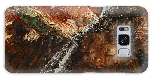 Zions Waterfall Galaxy Case by Jane Autry