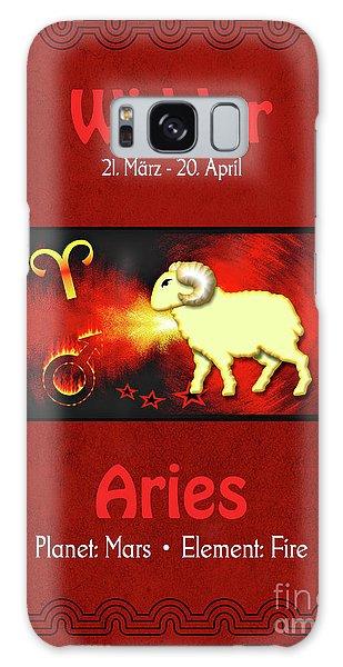 Zodiac Sign Aries - Widder Galaxy Case