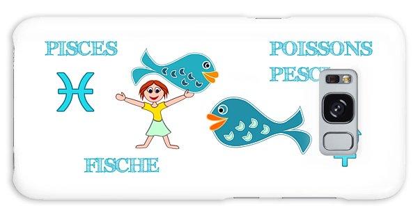 Zodiac Sign Pisces Galaxy Case