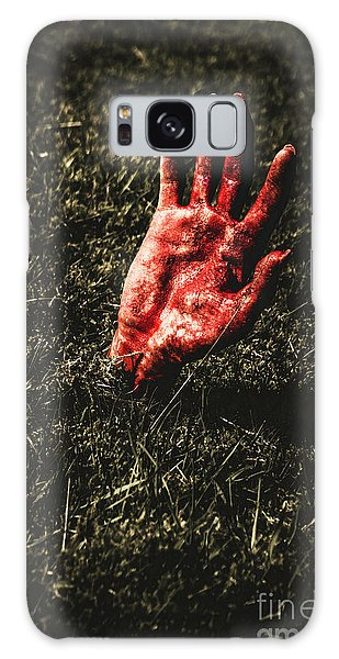 Zombies Galaxy Case - Zombie Rising From A Shallow Grave by Jorgo Photography - Wall Art Gallery