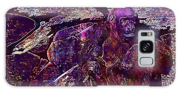 Galaxy Case featuring the digital art Zoo Monkey Animal  by PixBreak Art