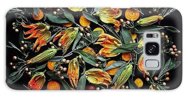 Zucchini Flower Patterns Galaxy Case