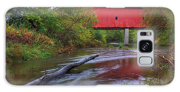 Zumbrota Minnesota Historic Covered Bridge 5 Galaxy Case