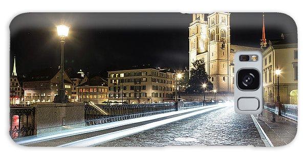 Zurich Night Rush In Old Town Galaxy Case
