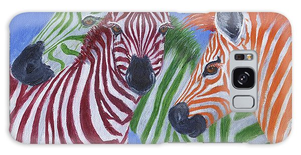Galaxy Case featuring the painting Zzzebras by Jamie Frier