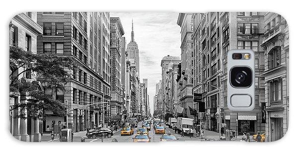 Decorative Galaxy Case - 5th Avenue Nyc Traffic by Melanie Viola