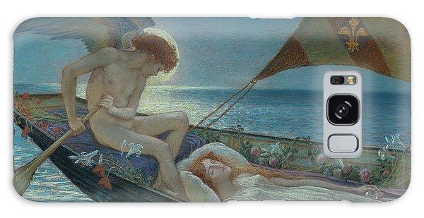 Sea Lily Galaxy Case - A Dream, 1902  by Walter Crane