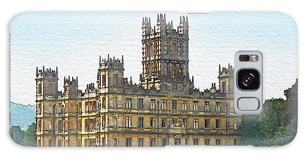 A View Of Highclere Castle Galaxy Case