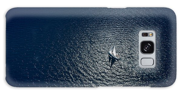 Success Galaxy Case - Amazing View To Yacht Sailing In Open by Im photo